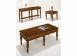 Coffee Table Set in West Indies Cherry Finish