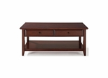 Coffee Table With Storage Drawers in Vintage Mahogany - CROSLEY-CF1302-MA