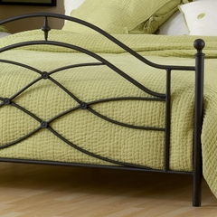 Cole King Size Bed in Black Twinkle - Hillsdale Furniture - 1601BKR