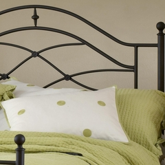 Cole King Size Headboard with Frame in Black Twinkle - Hillsdale Furniture - 1601HKR
