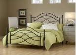 Cole Queen Size Bed in Black Twinkle - Hillsdale Furniture - 1601BQR