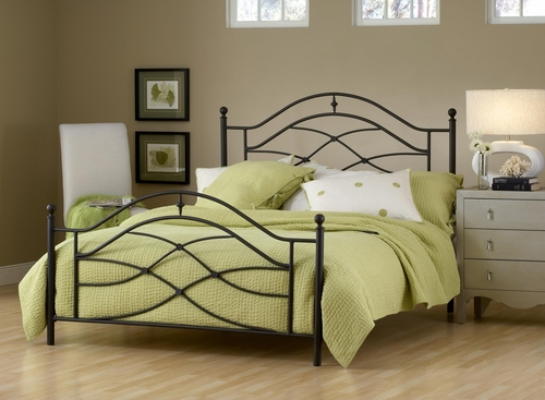 Cole Twin Size Bed in Black Twinkle - Hillsdale Furniture - 1601BTWR