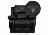 Columbus State University Cougars Leather Rocker Recliner  - MEN-DA3439-91-BK-41022-EMB-GG