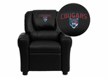 Columbus State University Cougars Vinyl Kids Recliner - DG-ULT-KID-BK-41022-EMB-GG