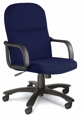 Comfort Big and Tall Executive Chair in Blue - Mayline Office Furniture - 1801AG2111