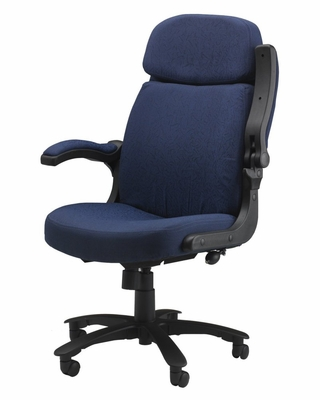 Comfort Big and Tall Pivot Arm Chair in Blue - Mayline Office Furniture - 6446AG2111