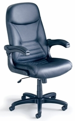 Comfort Big and Tall Pivot Leather Arm Chair - Mayline Office Furniture - 6446AGBLT