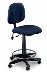 Comfort Swivel Task Stool in Blue - Mayline Office Furniture - 4005AG2111