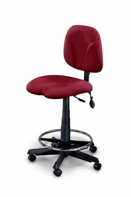 Comfort Swivel Task Stool in Burgundy - Mayline Office Furniture - 4005AG2112