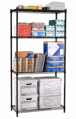 "Complete 4 Shelf Unit 36"" x 24"" x 72"" - OFM - S367224"
