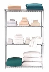 "Complete 4 Shelf Unit 48"" x 24"" x 72"" - OFM - S487224"