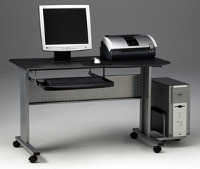 Computer Cart in Anthracite/Metallic Gray - Mayline Office Furniture - 8100TDANT
