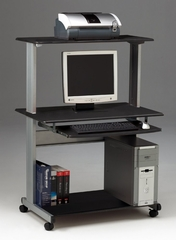 Computer Cart in Anthracite/Metallic Gray - Mayline Office Furniture - 8350MRANT