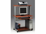 Computer Cart in Medium Cherry/Metallic Gray - Mayline Office Furniture - 8350MRMEC