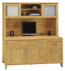 Computer Credenza and Hutch Set - Somerset Collection - Bush Office Furniture - WC81429-31