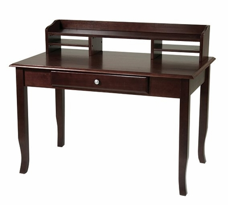 Computer Desk and Hutch in Merlot - Office Star - DH-SET-3