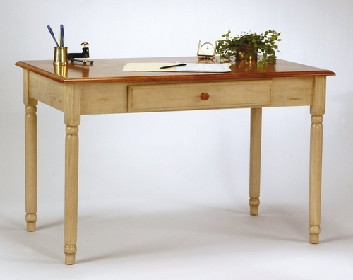 Computer Desk in Antique White and Cherry - Office Star - CC25