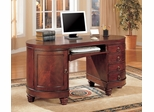 Computer Desk in Deep Brown Cherry - Coaster