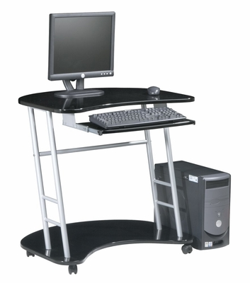 Computer Desk in Jet Black - Office Star - KK203R