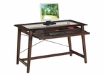 Computer Desk in Merlot with Glass Top - Office Star - FN25