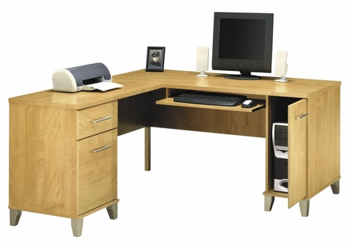 Computer Desk L Shape  60 inch - Somerset Collection - Bush Office Furniture - WC81430-03