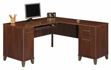 Computer Desk L Shape  60 inch - Somerset Collection - Bush Office Furniture - WC81730-03