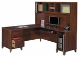 Computer Desk L Shape  71 inch and Hutch Set - Somerset Collection - Bush Office Furniture - WC81710-11