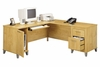 Computer Desk L Shape  71 inch - Somerset Collection - Bush Office Furniture - WC81410-03K