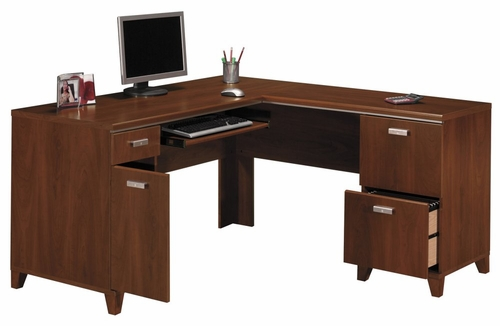 Computer Desk L Shape  - Tuxedo Collection - Bush Office Furniture - WC21430-03