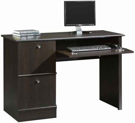 Computer Desk with Flip Down Keyboard Tray Cinnamon Cherry - Sauder Furniture - 408995