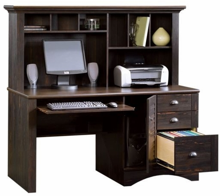 Computer Desk with Hutch Antiqued Paint - Sauder Furniture - 401634 Harbor View