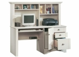 Computer Desk with Hutch Antiqued White - Sauder Furniture - 158034 Harbor View