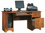 Computer Desk with Vertical CPU Tower Brushed Maple - Sauder Furniture - 402375