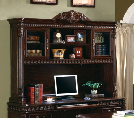 Computer Hutch in Rich Brown - Coaster