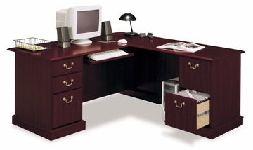 Computer L- Desk - Saratoga Executive Collection - Bush Office Furniture - EX45670-03K
