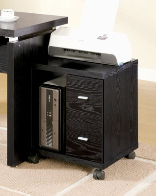 Computer Stand with 2 Drawers in Black - Coaster