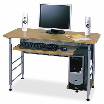 Computer Workstation - Oak/Gray - LLR60701
