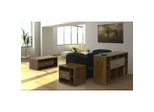 Concept Coffee Table Set in Cinnamon Cherry - Nexera Furniture