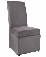 "Concrete Grey Velvet Skirted ""Slip Over"" (Fits 741-440 Chair) - Powell Furniture - 741-262Z"