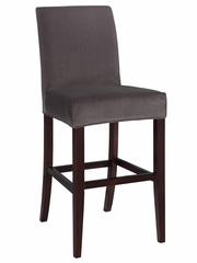 "Concrete Grey Velvet ""Slip Over"" for Counter Stool or Bar Stool - Powell Furniture - 742-261Z"
