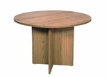 "Conference Table 48"" Round with 1"" Top/Slab X-Base - Correll Office Furniture - C48DM"