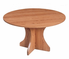 "Conference Table High-Pressure 48"" Round with 1 1/4"" Top/Hour Glass X-Base - Correll Office Furniture - C42LX"