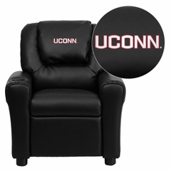 Connecticut Huskies Black Vinyl Kids Recliner - DG-ULT-KID-BK-40023-EMB-GG
