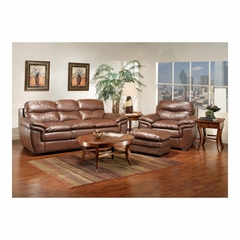 Conrad Leather 3 Piece Living Room Set - Largo - LARGO-WG-L2588-SET