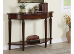 Console Table with 4 Reeded Legs with Lower Shelf - Masterpiece - Powell Furniture - 912-225