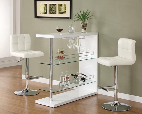 Contemporary 3PC Bar Set with Stools - 100167