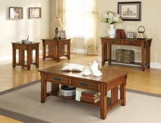 Contemporary 4PC Oak Occasional Table Set - 702006