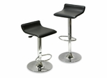 Contemporary Adjustable Airlift Stool - Set of 2 - Winsome Trading - 93329