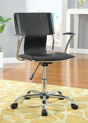 Contemporary Adjustable Height Black Task Chair - 800207