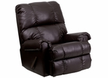 Contemporary Apache Brown Leather Rocker Recliner - WM-8700-372-GG